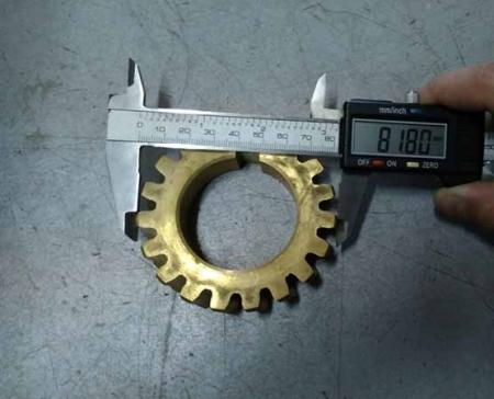 Шестерня в редуктор мотокультиватора Кентавр МК30-3 (19 зубов)