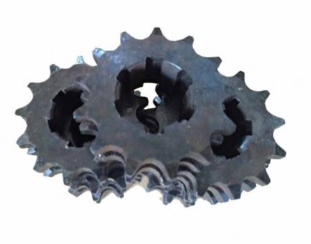 Звезда 2-х рядная мототрактора (13 зубов, 6 шлицов)