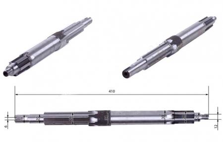 Вал первичный сцепления мототрактора (L=410 мм)