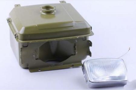 Бак топливный с фарой (горловина выступает) R195